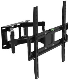Double Arm Cantilever TV wall Bracket with Tilt and Swivel 32 to 65 50kg PC SKY NEW
