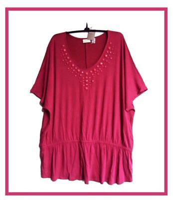 Chicos Apparel Dazzling Peplum Top Belmont Pink Chicos Size 0   4 6 Nwt  69