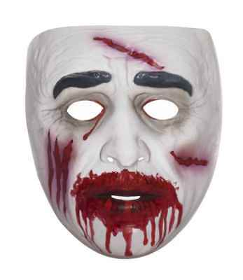Cheap Zombie Halloween Masks (Adult Cheap TRANSPARENT Scary Bloody ZOMBIE Costume)