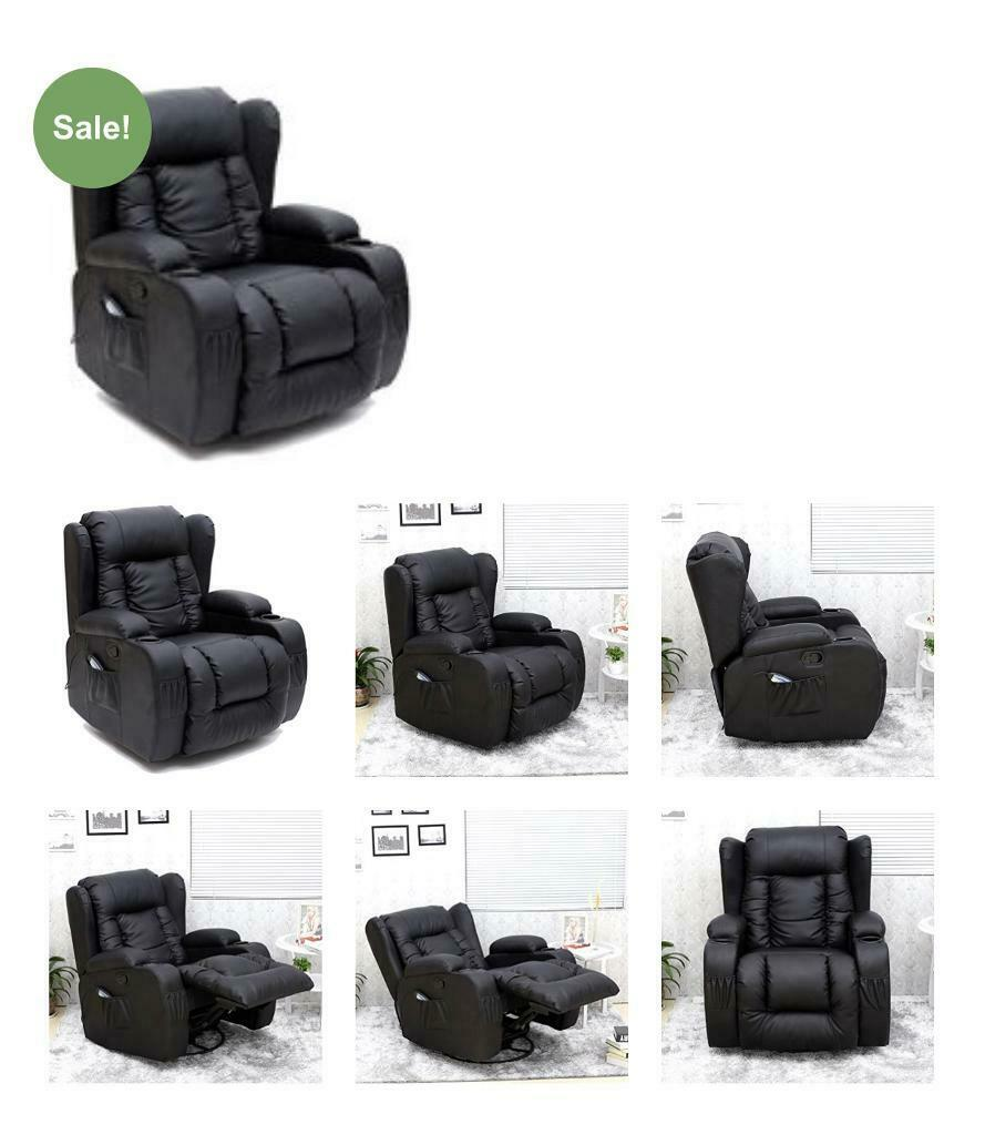Miraculous Caesar 10 In 1 Winged Leather Recliner Chair Rocking Massage Swivel Heated Gaming Armchair Black In Salisbury Wiltshire Gumtree Gamerscity Chair Design For Home Gamerscityorg