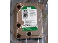 """2TB Western Digital Green WD20EZRX 3.5"""" HDD, Sata 3, 7200RPM, 64MB cache"""
