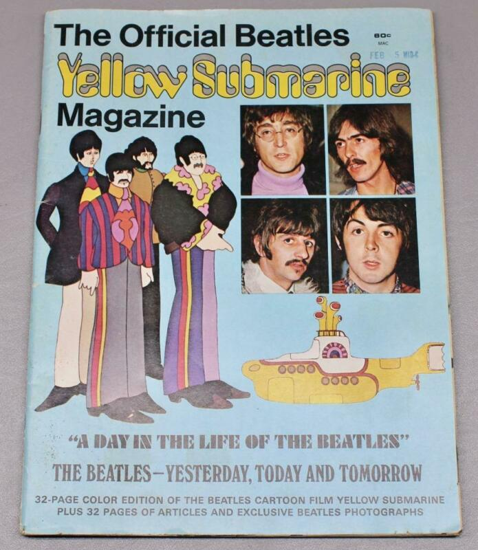 VINTAGE 1968 THE OFFICIAL BEATLES YELLOW SUBMARINE MAGAZINE