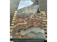 TILES JOBLOT 02: Grey/ brown marble effect polished porcelain tiles 60x60cm 30 square metres