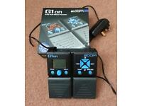 Zoom G1on Guitar Multi Effects Pedal With Ac Adapter