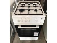 FLAVEL 50CM WIDE GAS COOKER WHITE EXCELLENT CONDITION, 4 MONTH WARRANTY