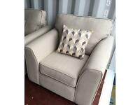 Beige Fabric Armchairs (£120 each or x2 for £220 ) New Ex Display