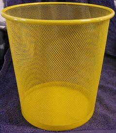 Bright Fun Yellow Waste Paper Bin