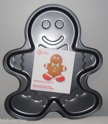 14 inch GINGERBREAD MAN Cookie Pan Non-Stick Carbon Steel NEW Giant Large  Gingerbread Cookie Pan