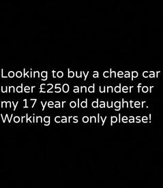 Looking for Cheap car under £250