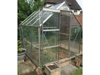 8 ft X 6 ft Aluminium & Glass Greenhouse