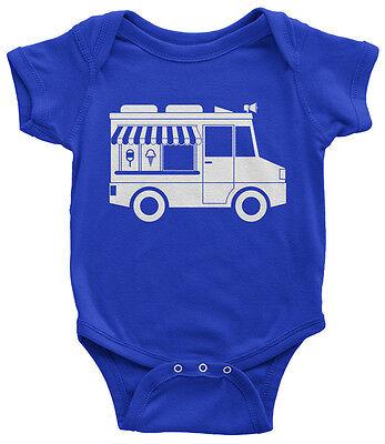Ice Cream Themed Birthday Party (Ice Cream Truck Infant Bodysuit Cute Birthday Party Theme)