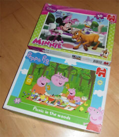 Jumbo Pepa Pig & Disney Minnie Puzzles