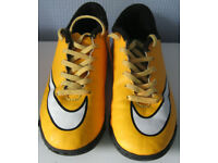 Nike Mercurial Orange astro turf Trainers, size 3