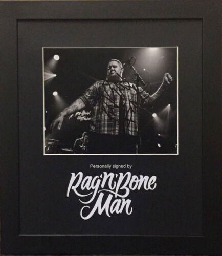 Rag N Bone Man signed 10x8 photo framed Human / Skin AFTAL & UACC [15486]