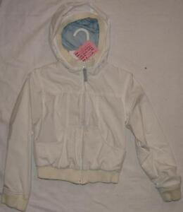 Size 8 Girls Old Navy White Zip Hooded Jacket