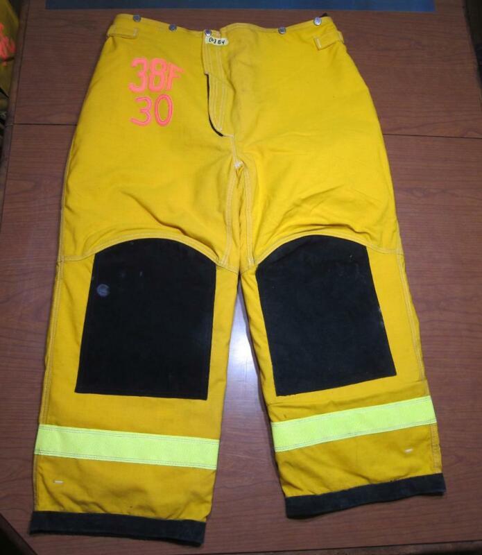 Lion Janesville Firefighter Fireman Turnout Gear Pants Size 38x30 - [D] (B4)