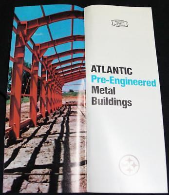Atlantic Pre-engineered Steel Metal Buildings Advertising Sales Brochure 1960s