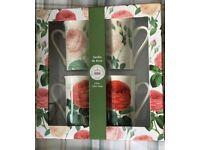 China Mugs. - set of 4 Kew Garden Jardin du Rose collection