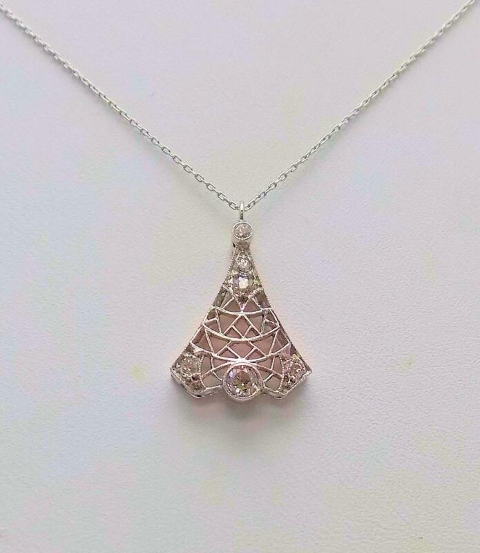 Antique Platinum & Diamond Pendant