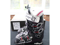 Salomon X-Pro 80 Womens Ski Boots – Brand new unused (size 23.5, purple translucent black)