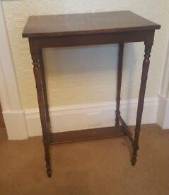 Hall table - Vintage dark wood.