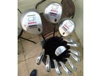 Full Set of Adults 'Hippo' Right Handed Golf Clubs & Trolley in Excellent Condition