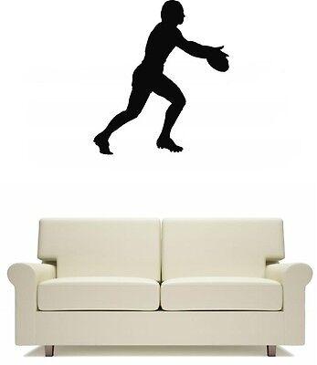 Home Decoration - Kicking Footballer Footy Wall Art Sticker Free Postage Football Home Decor