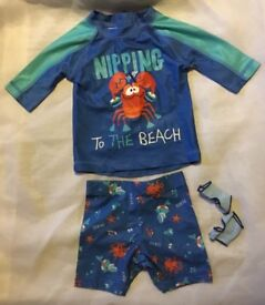 Swim sunsafe set 9-12 months