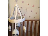 Silver cross cot mobile and matching changing mat and pillow
