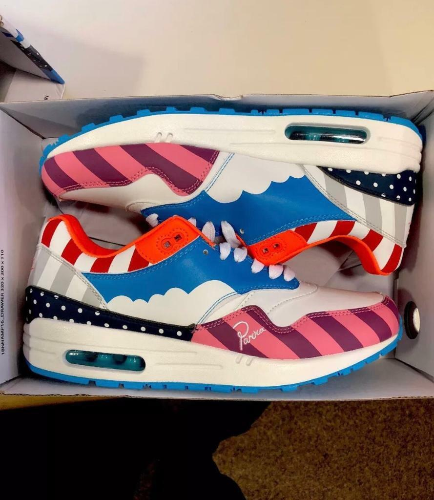 promo code 76e7a 5b2b9 The Parra x Nike Air Max 1 Family and Friends with Box (UK 8.5)