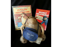 Super RARE Plush J D Polson Character Michael Bond Paddington plus Books