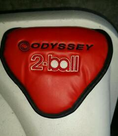 Odyssey 2 ball putter head cover