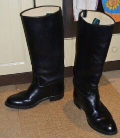 RIDING BOOTS BLACK LEATHER SIZE 7 - 8