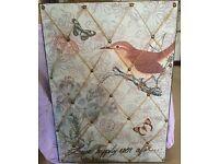 Shabby chic noticeboard