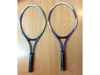 2 Tennis rackets £5 each or £8 for both Bargain!