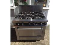 6 Burner Commercial Stove And Oven
