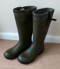"Seeland Field 17"" 4mm wellington boots wellies - olive green - size 11"