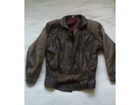 Vintage Leather Jacket - Oversized, Brown, Designer, Size M