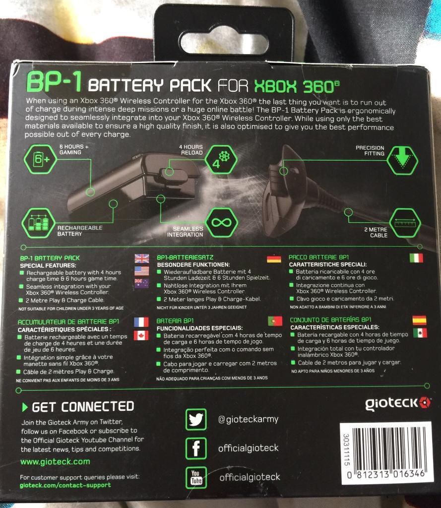 Xbox 360 Battery Pack In Erdington West Midlands Gumtree