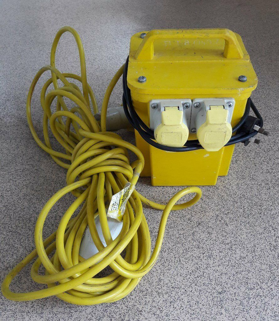 110v Yellow Plug Wiring Diagram Karmashares Llc Leveraging Usac Site Transformer Twin Outlet 1 X 14m Extension Lead In Rh Gumtree Com Electrical