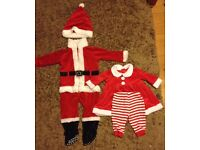 Christmas outfits in excellent nearly new condition, £1.50 each.