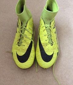 Nike hyper venom football boots sockboot 8.5