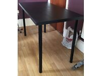 Ikea small black dining table