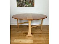 Vintage Mid Century Gate Leg Solid Beech and Elm Dining Table By Ercol FREE LOCAL DELIVERY