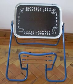 *RARE* VINTAGE TRIANG? FOLDING BLACKBOARD AND CHAIR