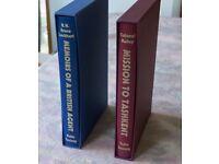 2 Folio Society Books Memoirs of a British Agent & Mission to Tashkent