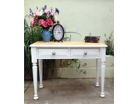 Solid Pine Console Table / Desk / Dressing Table