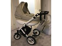 Baby-Merc Travel System (Pram, Push Chair, Car Set, Changing Bag)