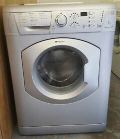 £120 Silver Hotpoint 7KG Washing Machine – 6 Months Warranty