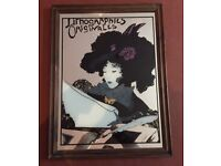 VINTAGE ILLUSTRATED FRENCH MIRROR